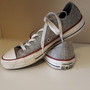 Converse Womans grey flannel sneakers